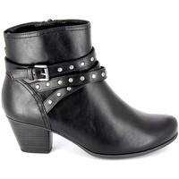 Cipők Női Bokacsizmák Jana Boots 25362-23 Noir Fekete