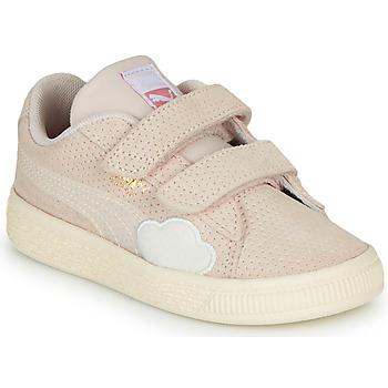 Cipők Lány Rövid szárú edzőcipők Puma SUEDE Rózsaszín