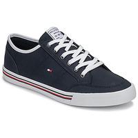 Cipők Férfi Rövid szárú edzőcipők Tommy Hilfiger CORE CORPORATE TEXTILE SNEAKER Kék
