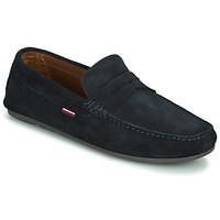 Cipők Férfi Mokkaszínek Tommy Hilfiger CLASSIC SUEDE PENNY LOAFER Kék