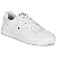 Cipők Férfi Rövid szárú edzőcipők Tommy Hilfiger LIGHTWEIGHT LEATHER SNEAKER Fehér