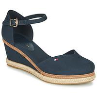 Cipők Női Szandálok / Saruk Tommy Hilfiger BASIC CLOSED TOE MID WEDGE Kék