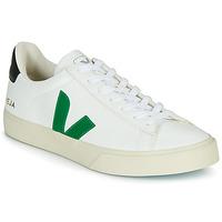 Cipők Rövid szárú edzőcipők Veja CAMPO Fehér / Zöld / Fekete
