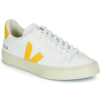 Cipők Rövid szárú edzőcipők Veja CAMPO Fehér / Citromsárga