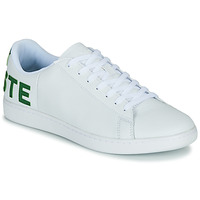 Cipők Férfi Rövid szárú edzőcipők Lacoste CARNABY EVO 120 7 US SMA Fehér / Zöld