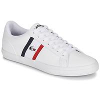 Cipők Férfi Rövid szárú edzőcipők Lacoste LEROND TRI1 CMA Fehér / Kék / Piros