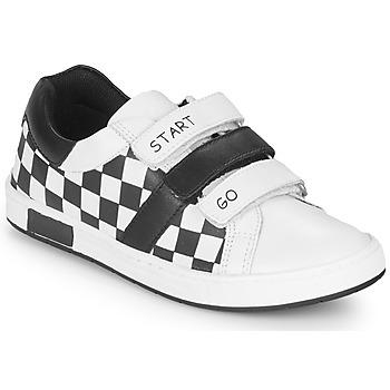 Cipők Fiú Rövid szárú edzőcipők Chicco CANDITO Fehér / Fekete