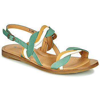 Cipők Női Szandálok / Saruk El Naturalista TULIP Zöld / Citromsárga / Fehér