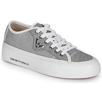 Cipők Női Rövid szárú edzőcipők Emporio Armani X3X109-XL487 Ezüst