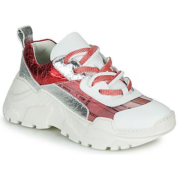 Cipők Női Rövid szárú edzőcipők Fru.it  Fehér / Piros / Ezüst