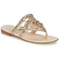 Cipők Női Lábujjközös papucsok Fru.it  Arany
