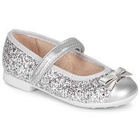 Cipők Lány Balerina cipők  Geox JR PLIE' Ezüst