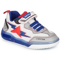 Cipők Fiú Rövid szárú edzőcipők Geox J INEK BOY Fehér / Kék / Piros