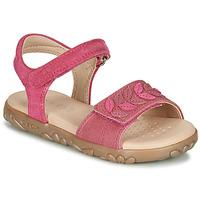 Cipők Lány Szandálok / Saruk Geox J SANDAL HAITI GIRL Fukszia