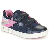 Cipők Lány Rövid szárú edzőcipők Geox J SKYLIN GIRL Tengerész / Rózsaszín