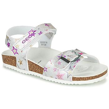 Cipők Lány Szandálok / Saruk Geox ADRIEL GIRL Ezüst