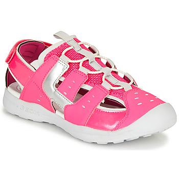 Cipők Lány Sportszandálok Geox J VANIETT GIRL Rózsaszín / Ezüst