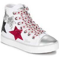 Cipők Lány Magas szárú edzőcipők Geox JR CIAK GIRL Fehér / Piros / Fekete