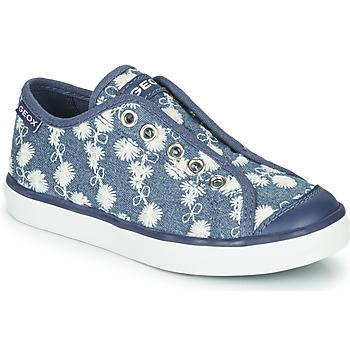 Cipők Lány Rövid szárú edzőcipők Geox JR CIAK GIRL Kék / Fehér
