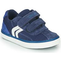 Cipők Fiú Rövid szárú edzőcipők Geox B KILWI BOY Kék / Fehér