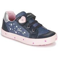 Cipők Lány Rövid szárú edzőcipők Geox B KILWI GIRL Kék / Rózsaszín