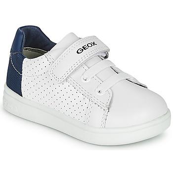 Cipők Fiú Rövid szárú edzőcipők Geox B DJROCK BOY Fehér / Kék