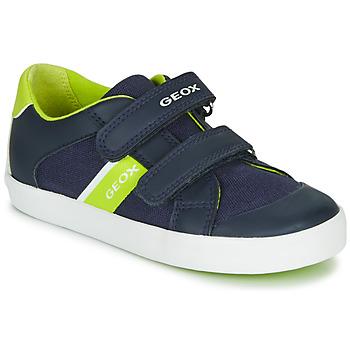 Cipők Fiú Rövid szárú edzőcipők Geox GISLI BOY Tengerész / Zöld