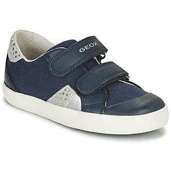 Cipők Fiú Rövid szárú edzőcipők Geox GISLI GIRL Tengerész / Ezüst