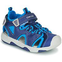 Cipők Fiú Sportszandálok Geox B SANDAL MULTY BOY Kék