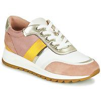 Cipők Női Rövid szárú edzőcipők Geox D TABELYA Rózsaszín / Fehér / Citromsárga
