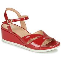 Cipők Női Rövid szárú edzőcipők Geox D ISCHIA Piros