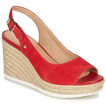 Cipők Női Rövid szárú edzőcipők Geox D PONZA Piros
