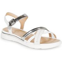 Cipők Női Szandálok / Saruk Geox D SANDAL HIVER Ezüst / Fehér