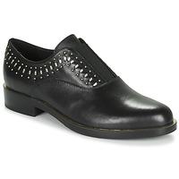 Cipők Női Oxford cipők Geox D BROGUE S Fekete  / Arany