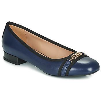 Cipők Női Balerina cipők  Geox D WISTREY Tengerész / Fekete