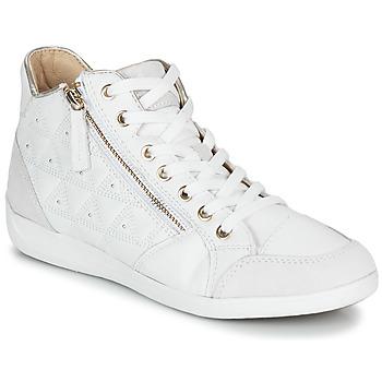 Cipők Női Magas szárú edzőcipők Geox D MYRIA Fehér