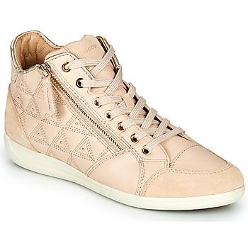 Cipők Női Magas szárú edzőcipők Geox D MYRIA Bézs