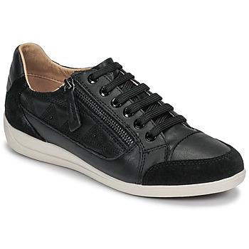 Cipők Női Rövid szárú edzőcipők Geox D MYRIA Fekete