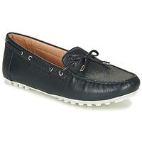 Cipők Női Mokkaszínek Geox D LEELYAN Kék / Tengerész