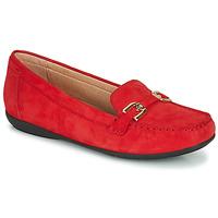 Cipők Női Mokkaszínek Geox D ANNYTAH MOC Piros / Arany