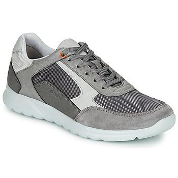 Cipők Férfi Rövid szárú edzőcipők Geox U ERAST Szürke / Fehér / Narancssárga