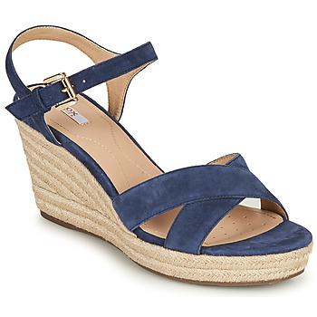 Cipők Női Szandálok / Saruk Geox D SOLEIL Kék