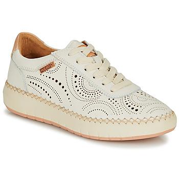Cipők Női Rövid szárú edzőcipők Pikolinos MESINA W6B Fehér / Rózsaszín