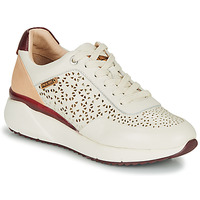 Cipők Női Rövid szárú edzőcipők Pikolinos SELLA W6Z Fehér / Bordó