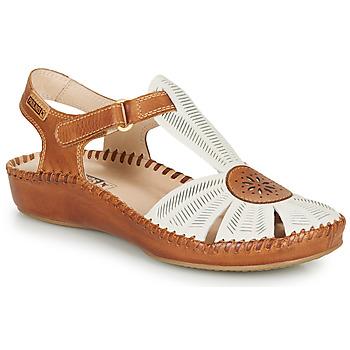 Cipők Női Szandálok / Saruk Pikolinos P. VALLARTA 655 Fehér / Teve