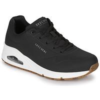 Cipők Női Rövid szárú edzőcipők Skechers UNO STAND ON AIR Fekete