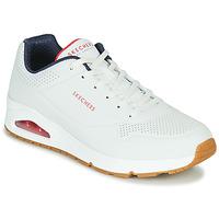 Cipők Férfi Rövid szárú edzőcipők Skechers UNO STAND ON AIR Fehér