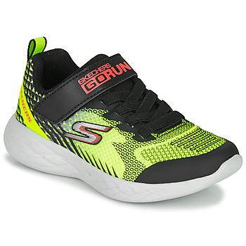 Cipők Fiú Rövid szárú edzőcipők Skechers GO RUN 600 BAXTUX Fekete  / Citromsárga