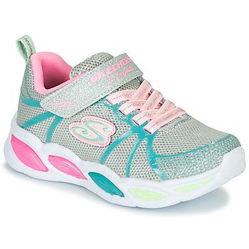 Cipők Lány Multisport Skechers SHIMMER BEAMS Ezüst / Rózsaszín / Kék