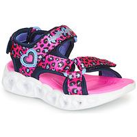 Cipők Lány Sportszandálok Skechers HEART LIGHTS Rózsaszín / Fekete